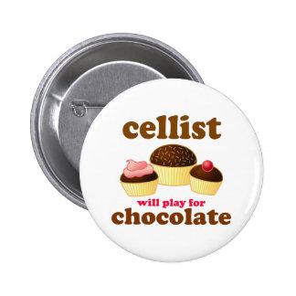 Funny Chocolate Cello Button