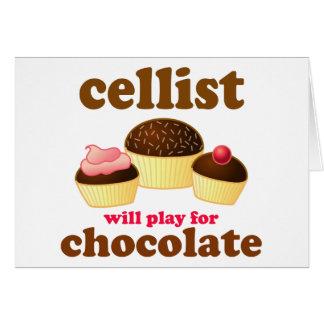 Funny Chocolate Cello Card