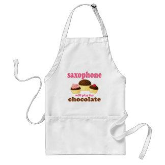 Funny Chocolate Saxophone Apron