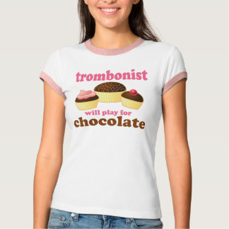 Funny Chocolate Trombonist Gift T-Shirt