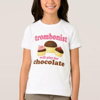 Funny Chocolate Trombonist Gift Tshirts