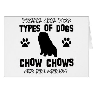 Funny chow chow designs greeting card