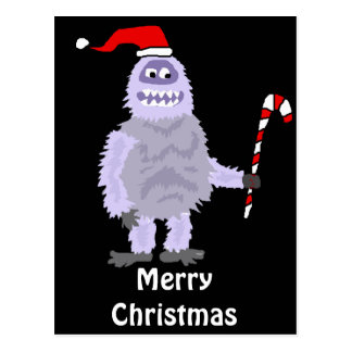 Funny Christmas Abominable Snowman Postcard