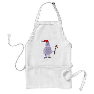 Funny Christmas Abominable Snowman Standard Apron