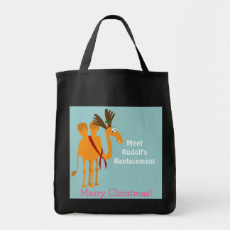 Funny Christmas Bag - Camel in Reindeer Suit