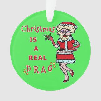 Funny Christmas Bah Humbug Santa in Drag
