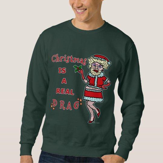 Funny Christmas Bah Humbug Santa in Drag Ugly