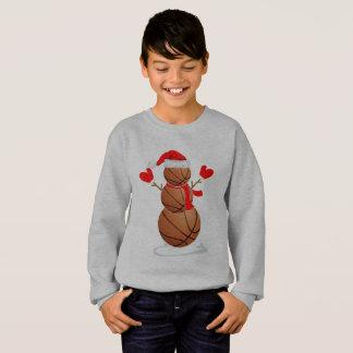 Funny Christmas Basketball Snowman Gift Shirt