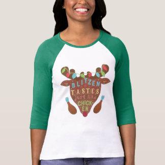 Funny Christmas Blitzen Chicken Reindeer Humor T-Shirt