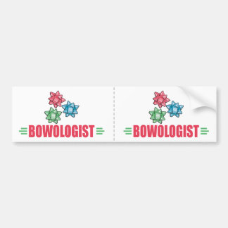 Funny Christmas Bow Lover Bumper Stickers
