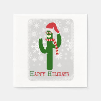 Funny Christmas Cactus Disposable Serviette