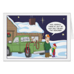 Funny Christmas card, deer hunting humour Greeting Card