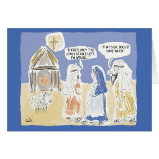 """Funny Christmas Card:""""Does it Have Wi-Fi?"""" Card"""