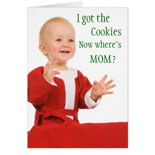 Funny Christmas card from the baby