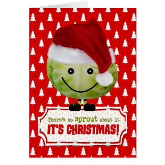 Funny Christmas Card - The Happy Christmas Sprout