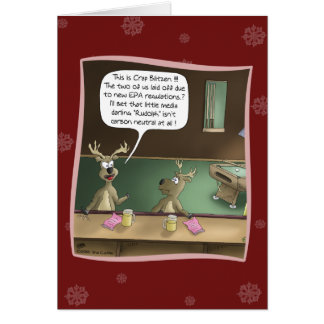 Funny Christmas Card: The Layoff Greeting Card