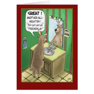 Funny Christmas Cards: All-Nighter Greeting Card