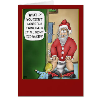 Funny Christmas Cards: Bathroom Break Greeting Card