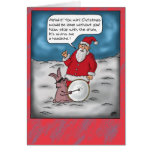 Funny Christmas Cards: Christmas Drums Greeting Card