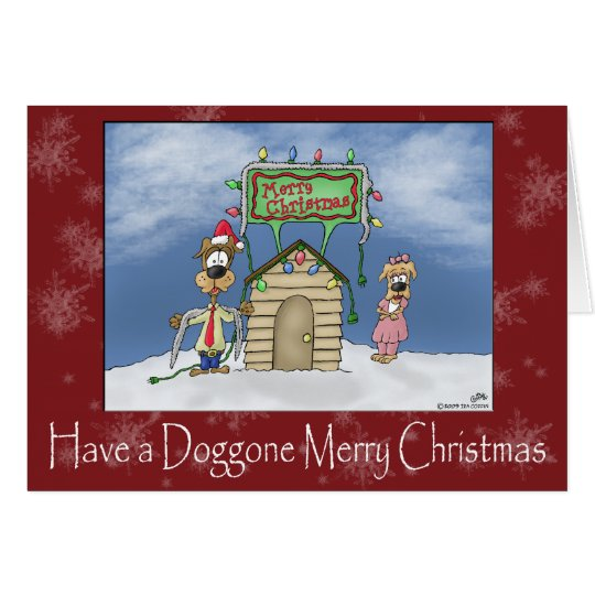 Funny Christmas Cards: Doggone Merry Christmas Card