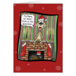 Funny Christmas Cards: Guard dog on duty