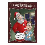 Funny Christmas Cards: Knows when you're awake