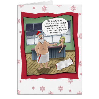 Funny Christmas Cards: Naughty and Nice Rule Greeting Card