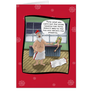 Funny Christmas Cards: Naughty and Nice Rules Greeting Card