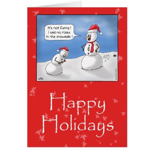 Funny Christmas Cards: No Rocks! Card