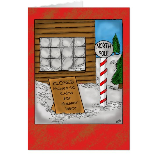 Funny Christmas Cards: North Pole Moving Card
