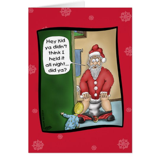 Funny Christmas Cards: Pit Stop Card