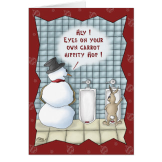 Funny Christmas Cards: Privacy Please Greeting Card