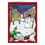 Funny Christmas Cards: Pro-Snow Greeting Card