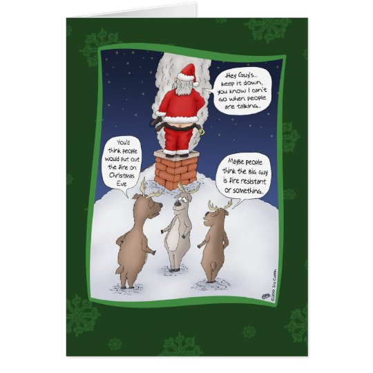 Funny Christmas Cards: Put the Fire Out Card