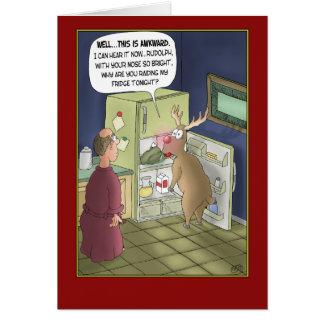 Funny Christmas Cards: Raiding the Fridge Greeting Card