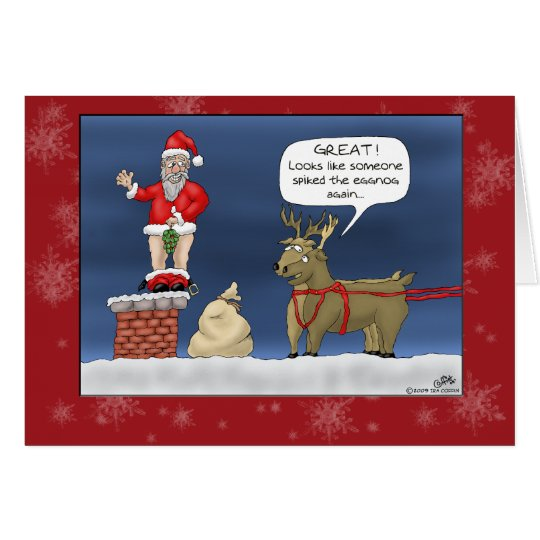Funny Christmas Cards: Spiked the Eggnog Card