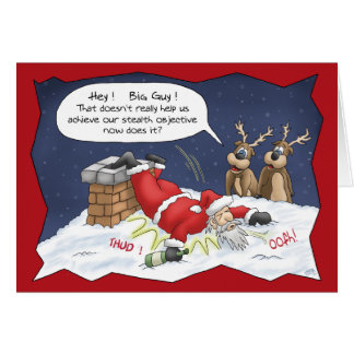 Funny Christmas Cards: Stealth Objective Greeting Card