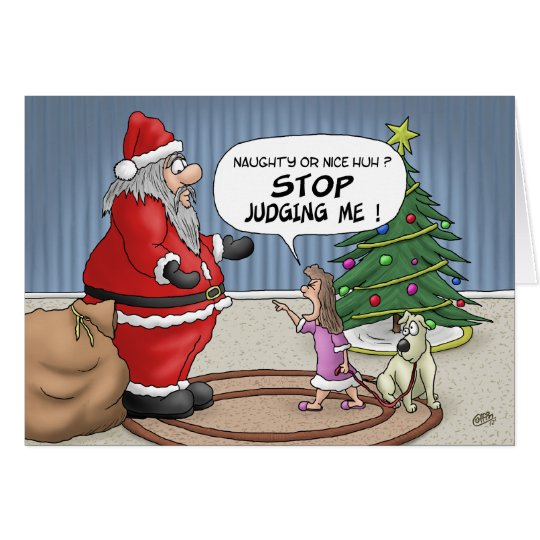 Funny Christmas Cards: Stop Judging Card