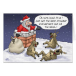 Funny Christmas Cards: Stuck Greeting Card