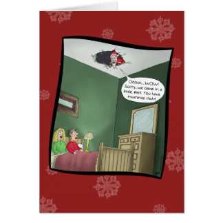 Funny Christmas Cards: The Accident Greeting Card