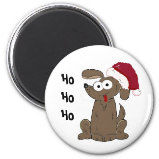 Funny Christmas Cartoon Dog Fridge Magnet
