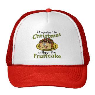 Funny Christmas Cartoon Fruitcake Cap