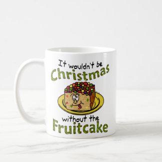 Funny Christmas Cartoon Fruitcake Coffee Mug