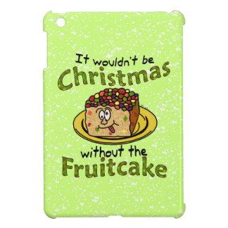 Funny Christmas Cartoon Fruitcake iPad Mini Covers