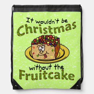 Funny Christmas Cartoon Fruitcake Rucksack