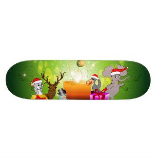 Funny christmas cartoon skate decks