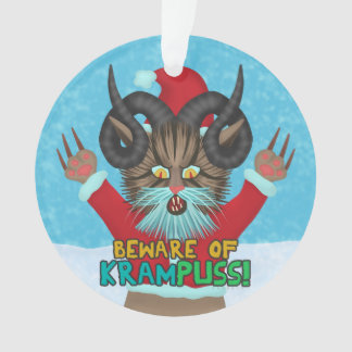 Funny Christmas Cat Humor Krampuss Holidays Pun
