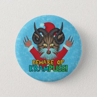 Funny Christmas Cat Humor Krampuss Holidays Pun 6 Cm Round Badge