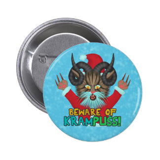 Funny Christmas Cat Humor Krampuss Holidays Pun 6 Cm Round Badge