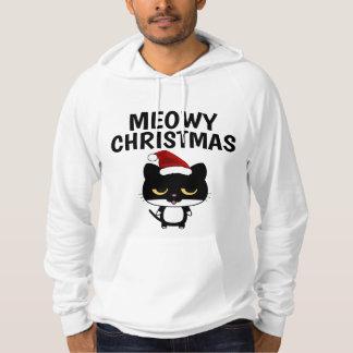 Funny Christmas Cat T-shirts, MEOWY CHRISTMAS Hoodie